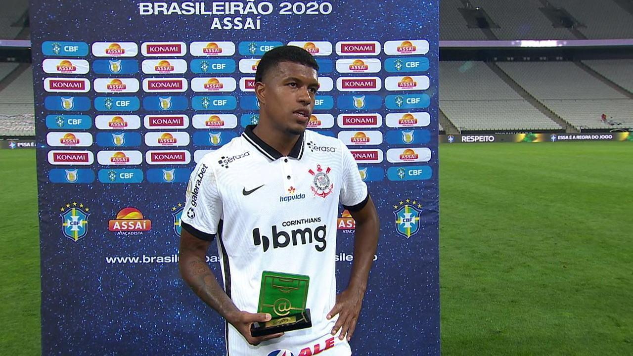 """Léo Natel é eleito o Craque do Jogo contra o Atlético-GO e diz: """"Sabemos que era importante ter vencido."""""""
