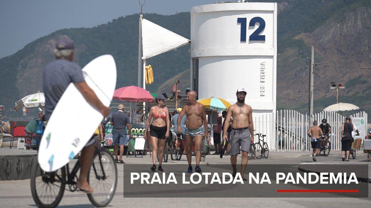 Cariocas lotam praias mesmo em meio a pandemia