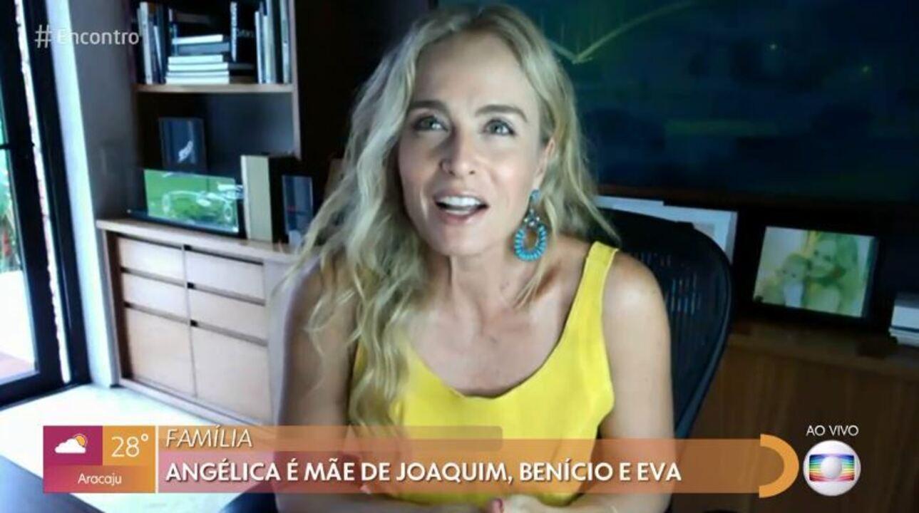 Angélica fala da estreia de novo programa e diz que se estressa quando filhos brigam