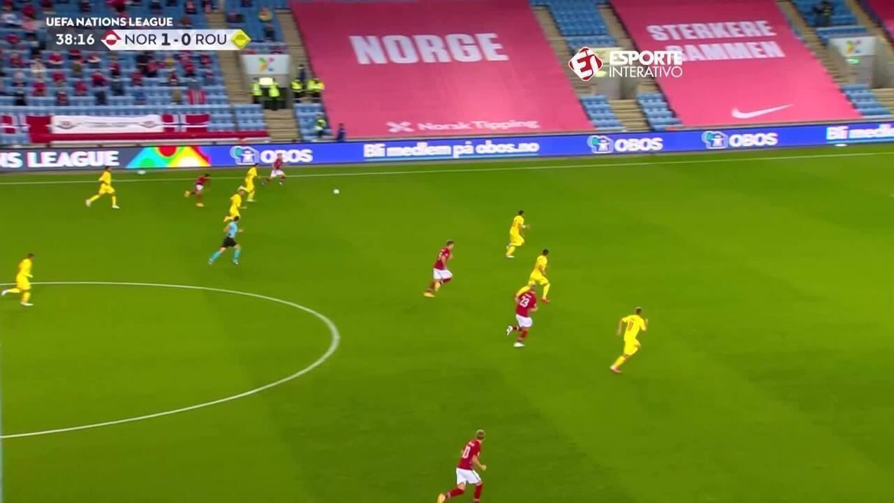 Os gols de Noruega 4 x 0 Romênia pela Liga das Nações