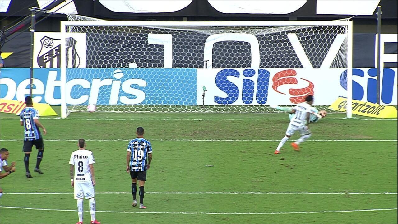 Melhores momentos: Santos 2 x 1 Grêmio pela 15ª rodada do Campeonato Brasileiro 2020