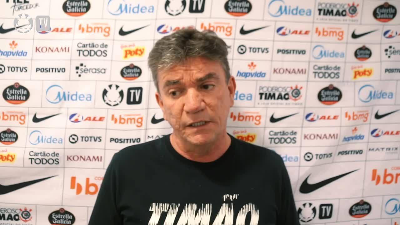 Andrés Sanchez, presidente do Corinthians, explica a decisão de contratar novo treinador