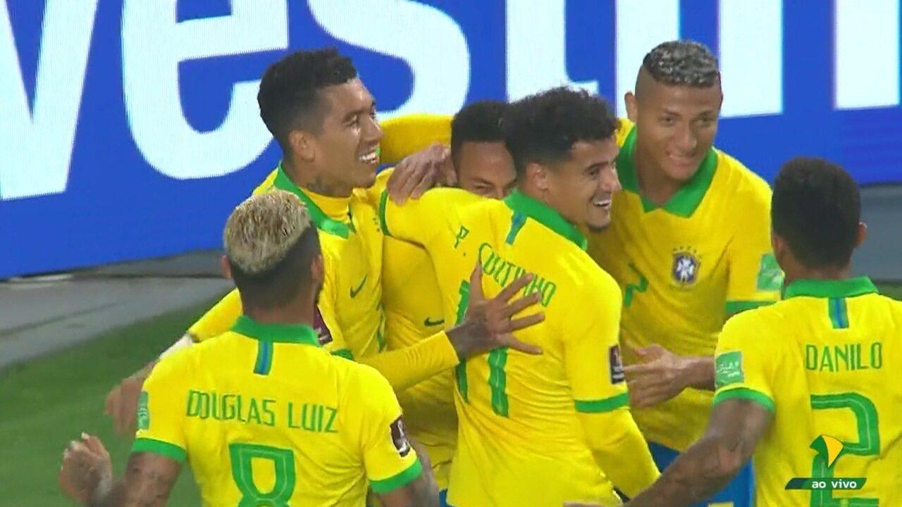 Veja os melhores momentos da vitória do Brasil sobre o Peru por 4 a 2