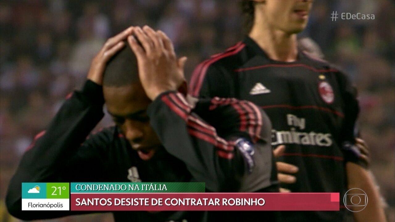 Casagrande comenta suspensão de contrato entre Santos e Robinho