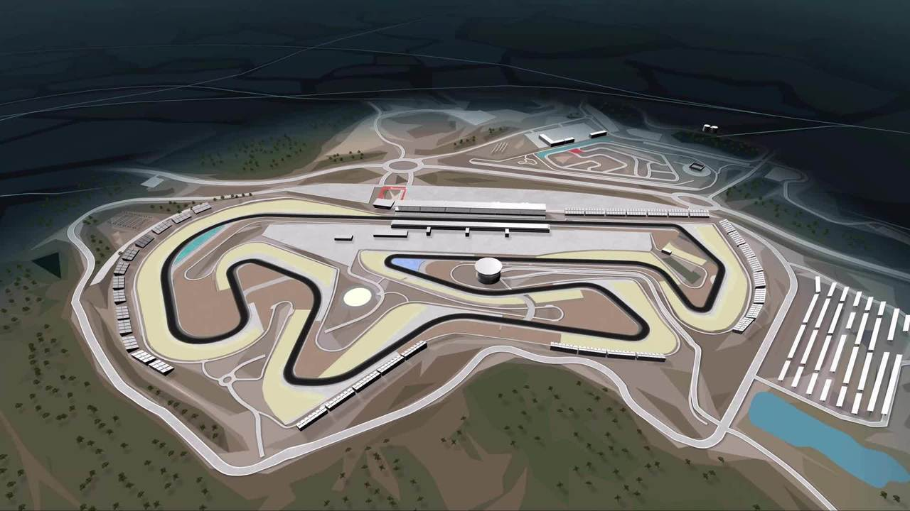 Mapa do Autódromo Internacional do Algarve, sede do GP de Portugal de Fórmula 1