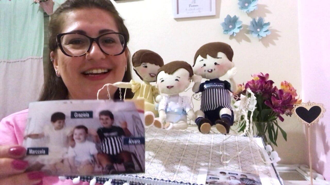 Ateliê faz bonecas a partir de fotografias de clientes