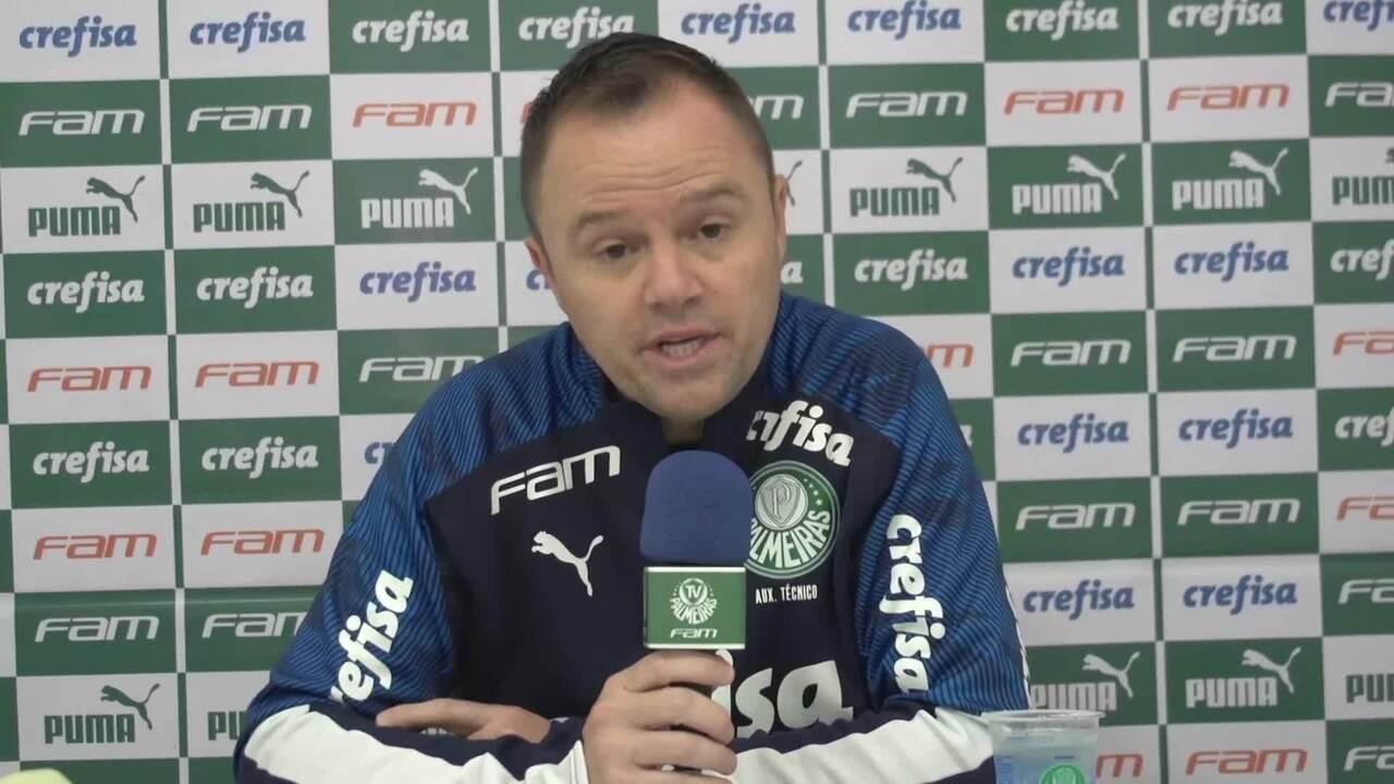 Confira a coletiva de Andrey Lopes, após vitória do Palmeiras sobre o Bragantino
