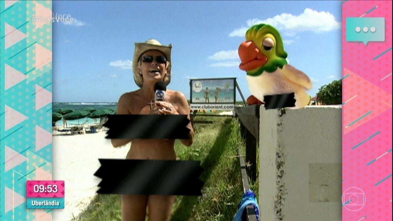 Relembre as aventuras do Louro José em uma praia de nudismo