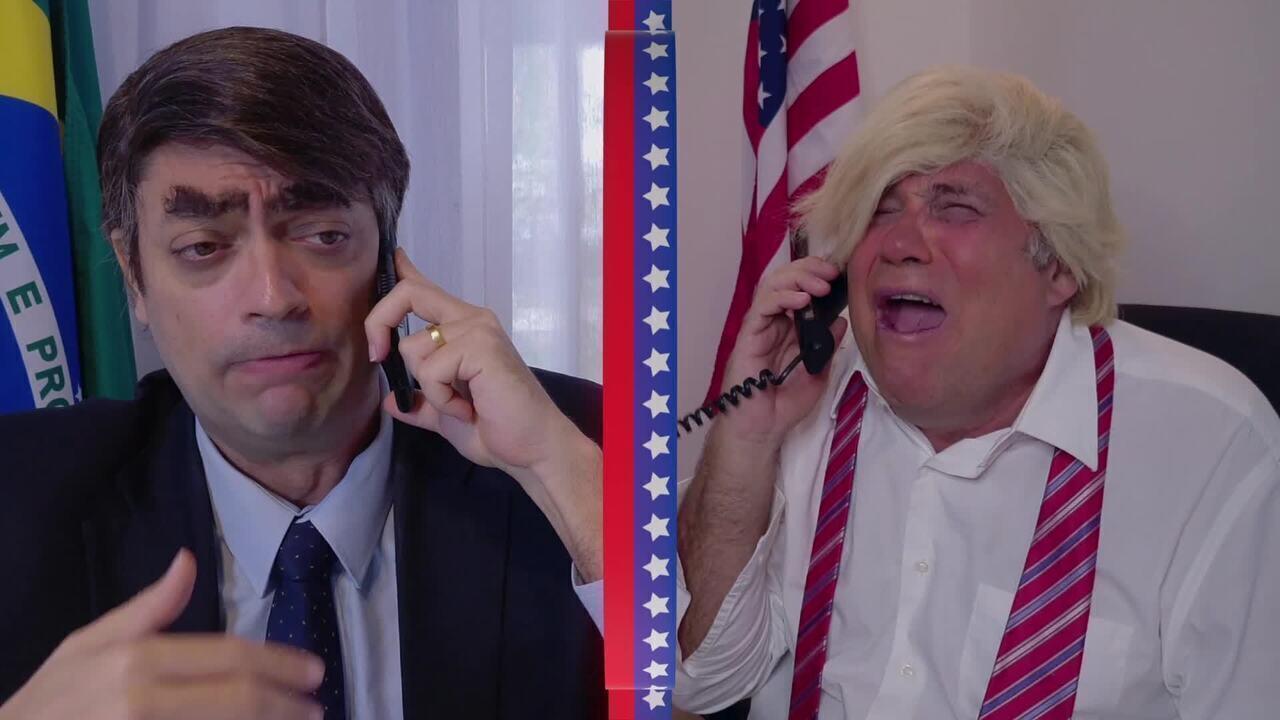 Assista ao esquete 'Bolsonaro consola Trump' na íntegra!