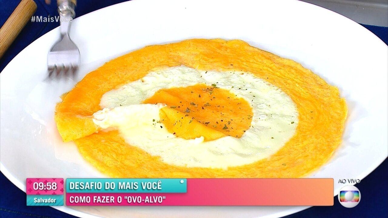 Ana Maria Braga reproduz o famoso ovo-alvo da internet