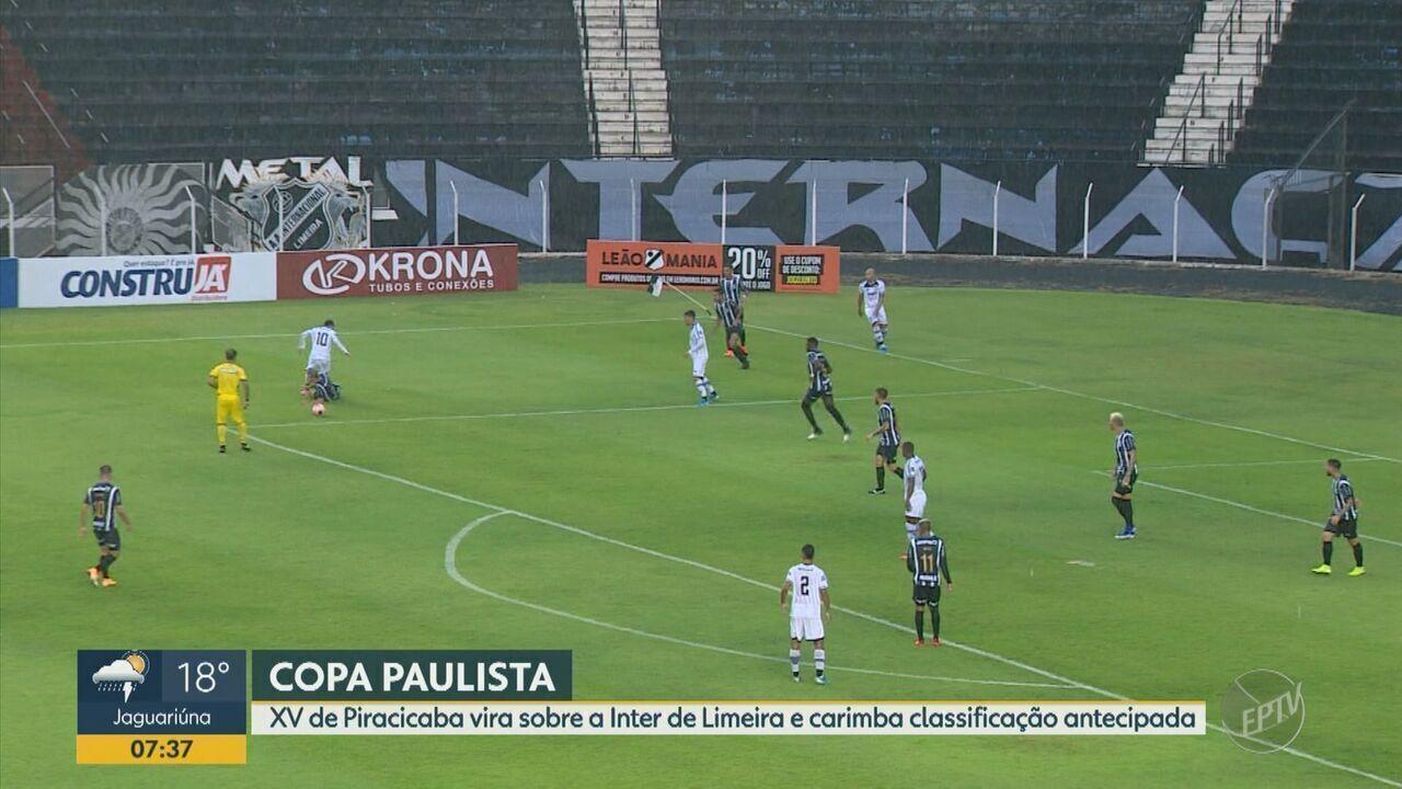 XV de Piracicaba vira sobre a Inter de Limeira e carimba classificação antecipada