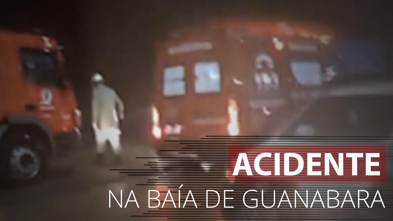 Vídeo mostra desespero de trabalhadores ao relatarem queda de veículo no mar no Rio