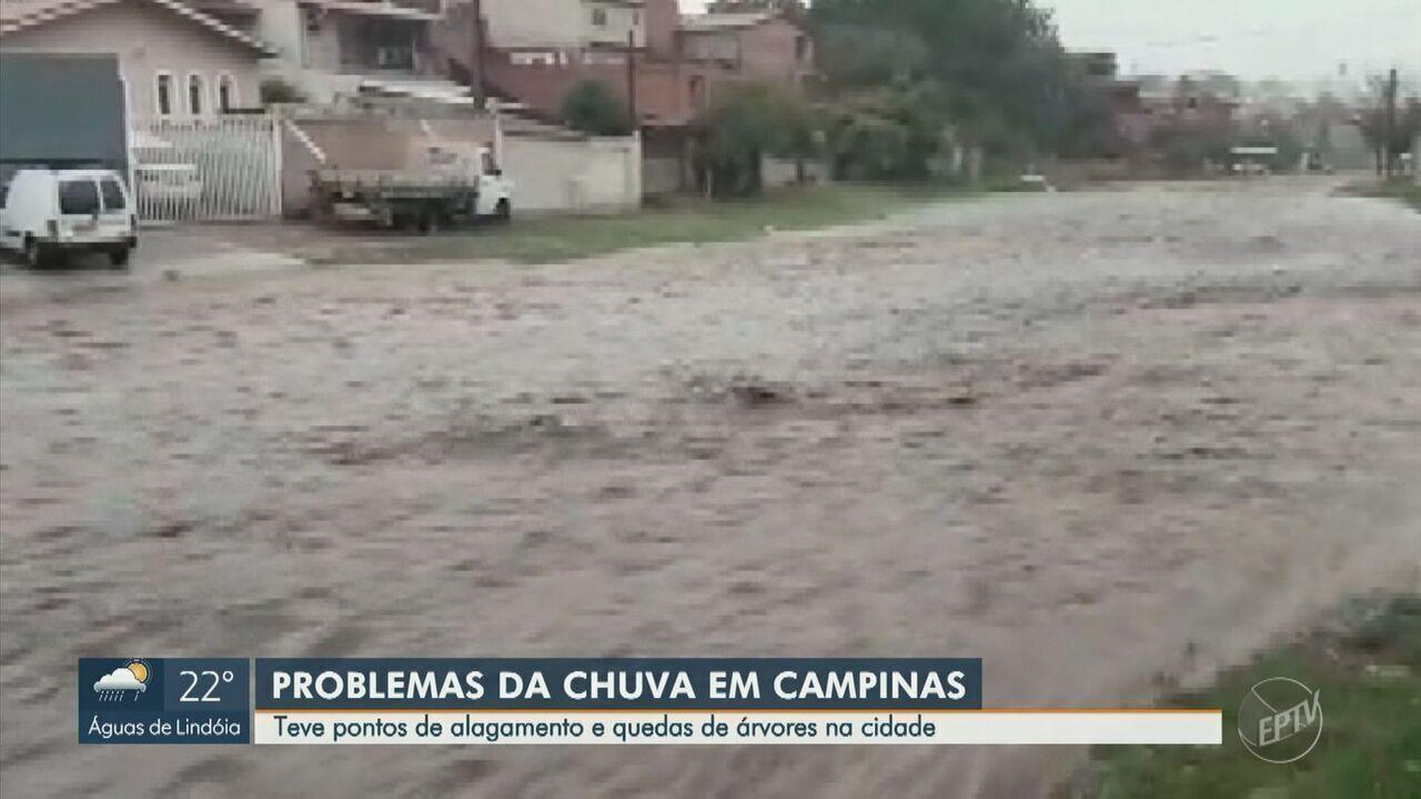 Temporal causa transtornos em estrada de terra de Campinas