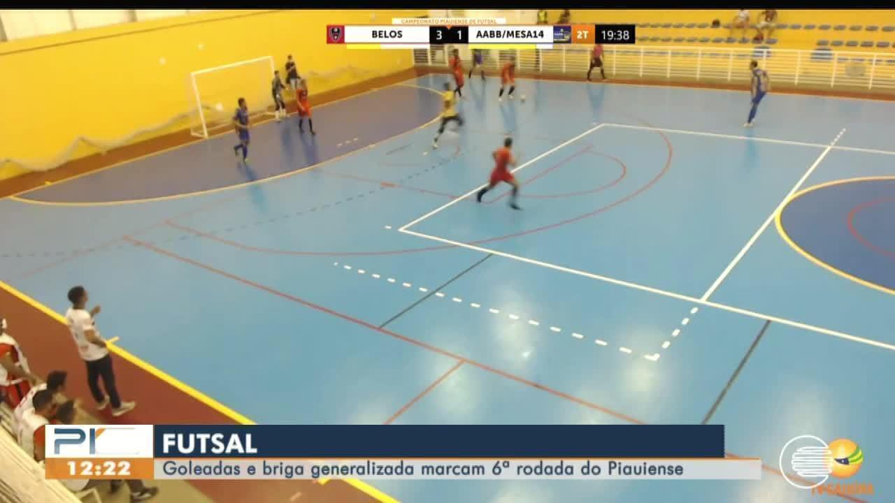 Rodada do Piauiense de futsal tem goleada e confusão em quadra