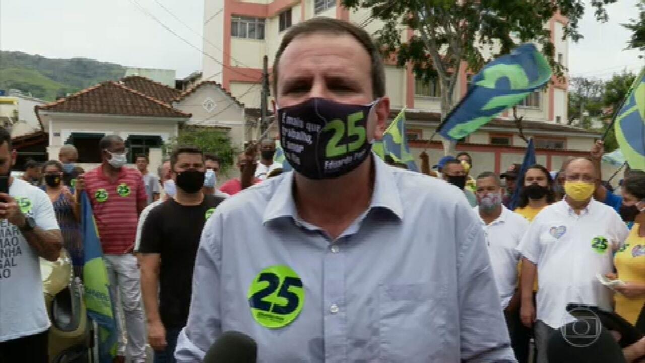 Eduardo Paes (DEM) faz campanha na Zona Norte do Rio