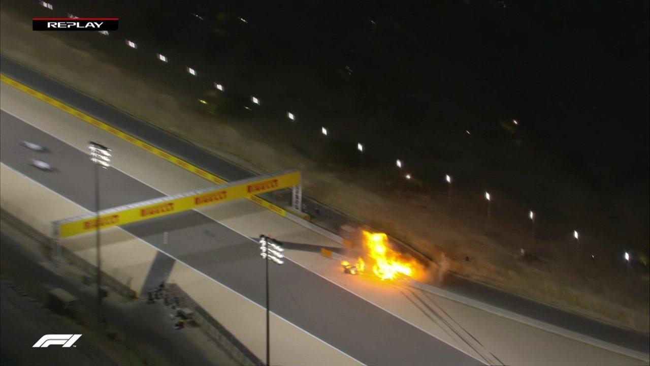 Confira novas imagens do acidente de Grosjean