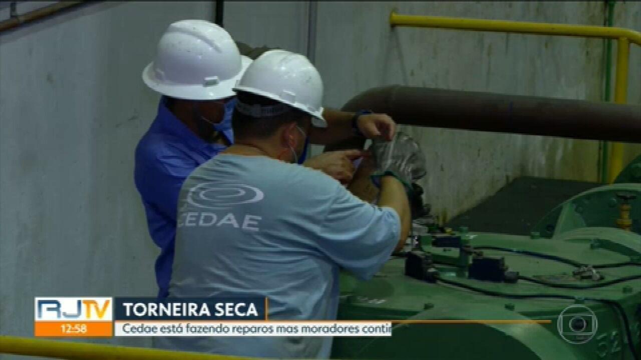 Equipe do RJ1 entra na Elevatória do Lameirão e vê de perto o problema que causa desabastecimento