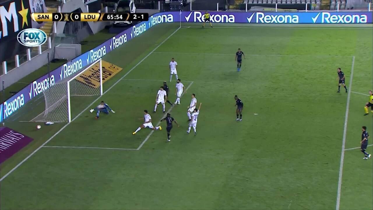 Melhores momentos: Santos 0 x 1 LDU pelas oitavas de final da Libertadores
