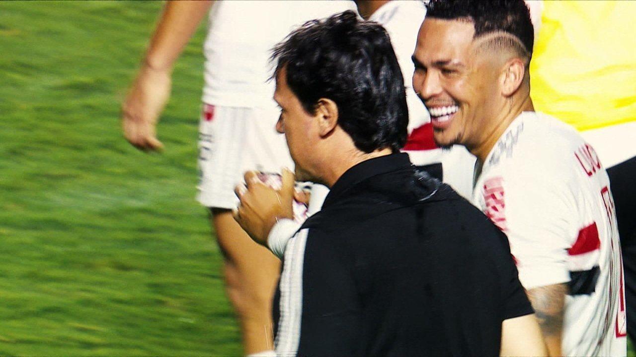 Entre tapas e beijos: o retrato da relação de Diniz e Luciano no São Paulo