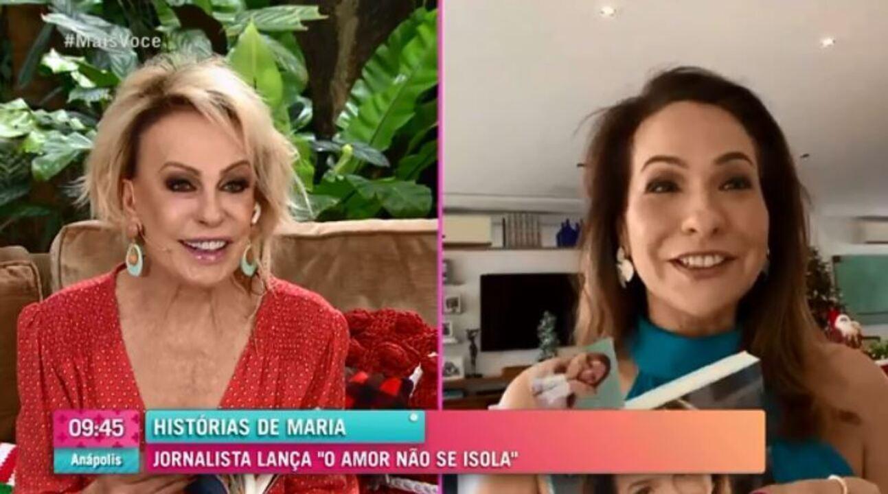 Maria Beltrão conta que filha ficava calma vendo Ana Maria e Louro José