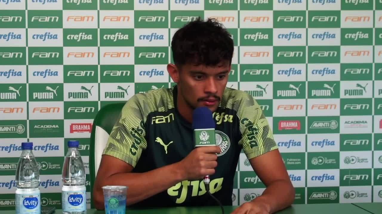 Veja a entrevista coletiva de Gustavo Scarpa, do Palmeiras