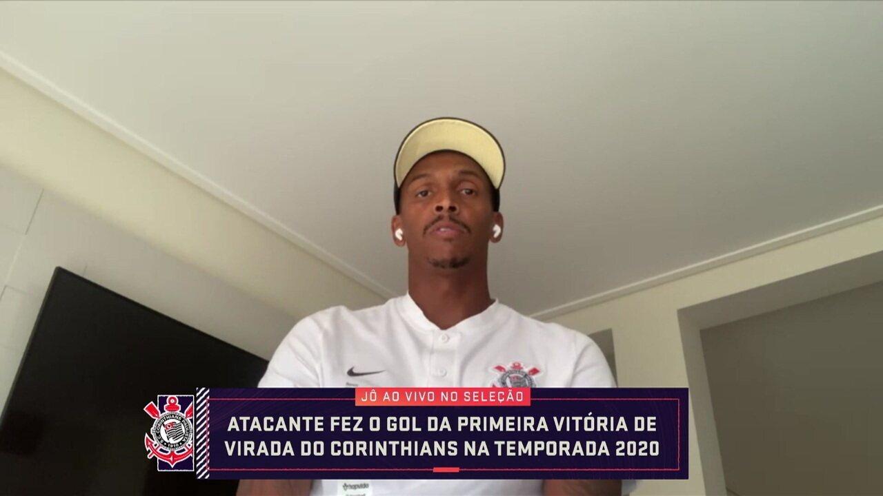 Jô fala sobre fim de jejum de gols em temporada de lesões e Covid