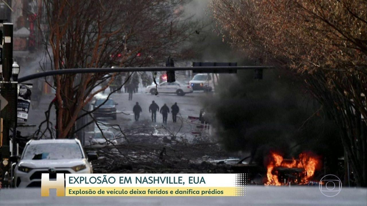 Έκρηξη οχήματος στο Νάσβιλ των ΗΠΑ τραυματίστηκε και ζημιά σε κτίρια