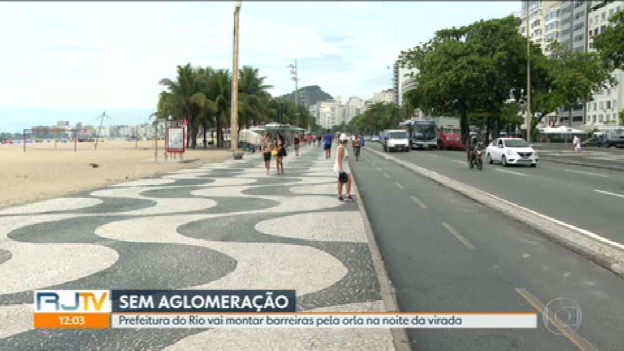 Prefeitura do Rio deve montar barreiras pela orla na noite da virada