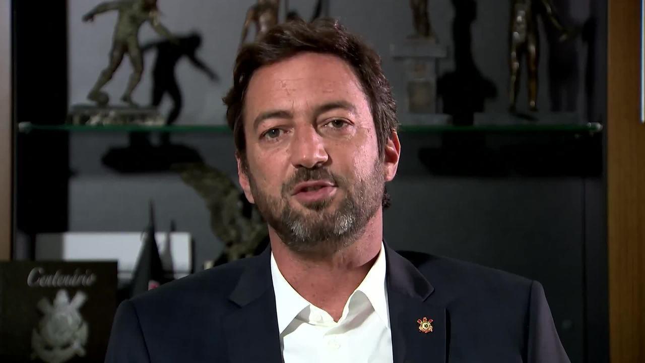 Duilio Monteiro Alves, presidente do Corinthians, fala sobre planejamentos de seu mandato