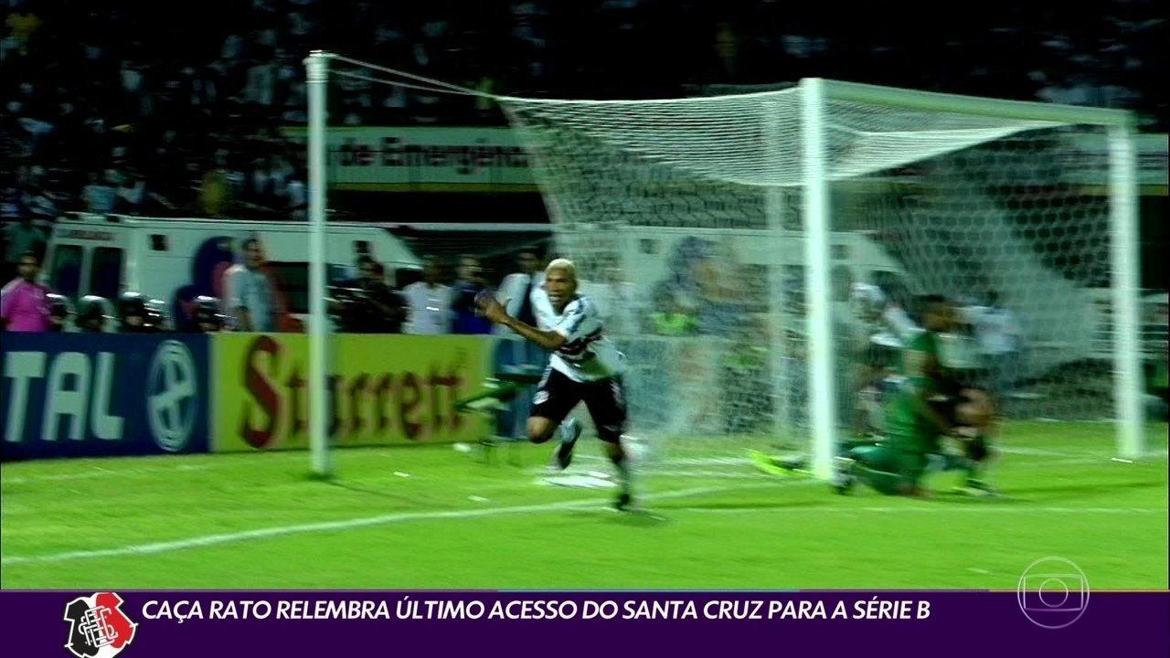 Caça-Rato relembra último acesso do Santa Cruz para a Série B