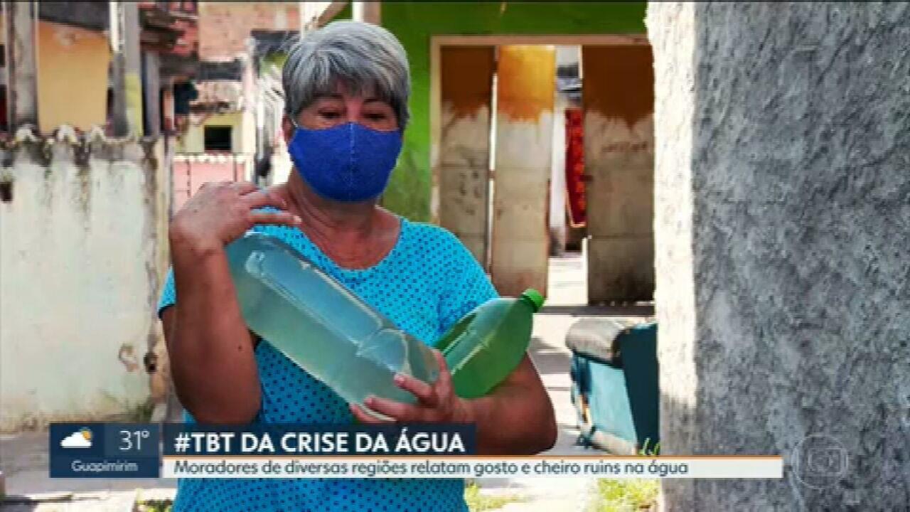 Moradores do Rio voltam a relatar água com gosto e cheiro ruins, além de desabastecimento