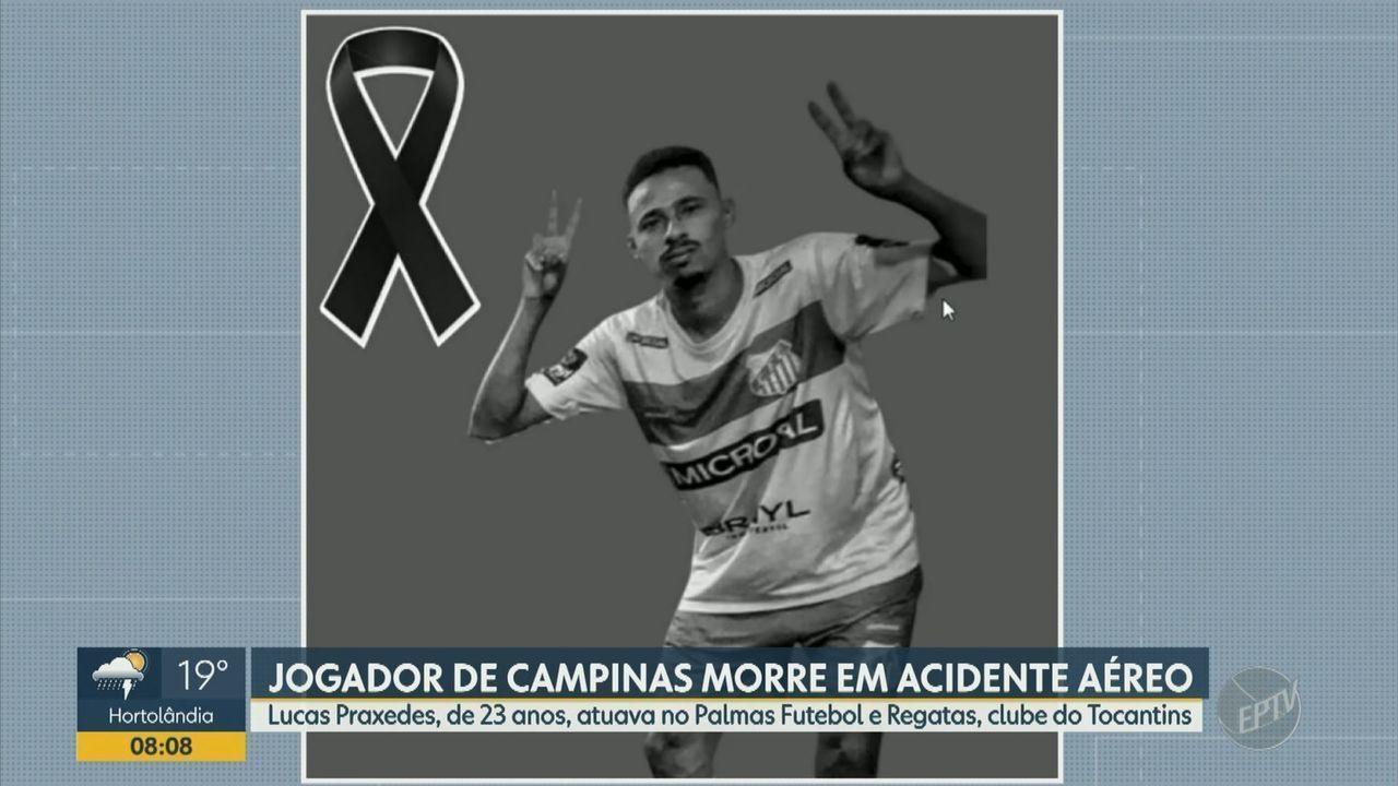 Jogador de Campinas morre em acidente aéreo no Tocantins