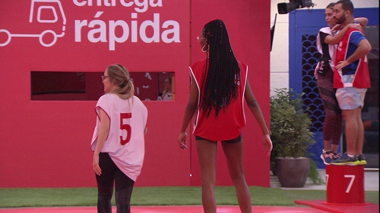 Carla Diaz e Camilla de Lucas deixam a Prova de Imunidade