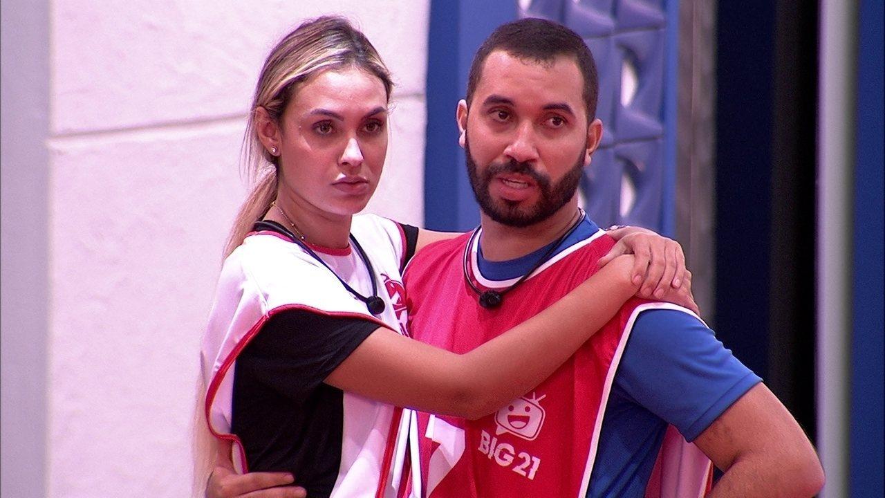 Gilberto e Sarah sobre prova em dupla: 'Um pelo outro'