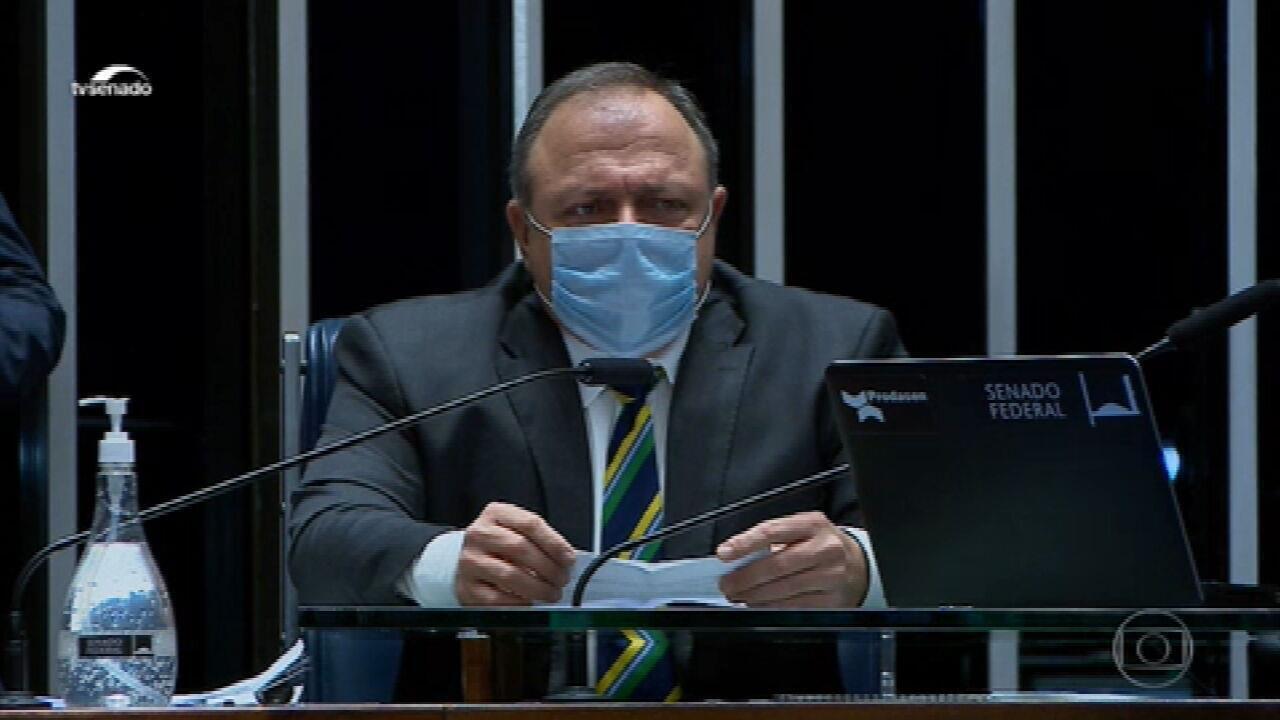 Pazuello é questionado, no Senado, sobre a atuação do governo federal durante a pandemia