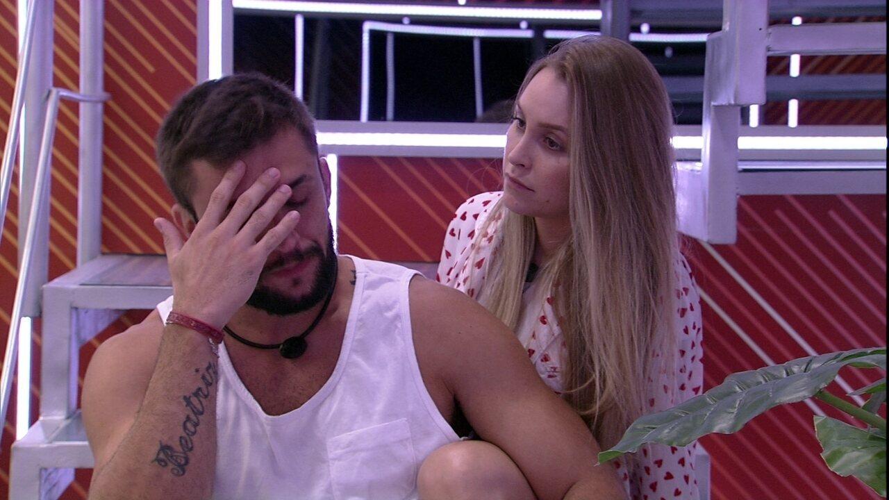 Arthur reclama do Queridômetro e Carla Diaz fala: 'Ainda dá tempo de recuperar'