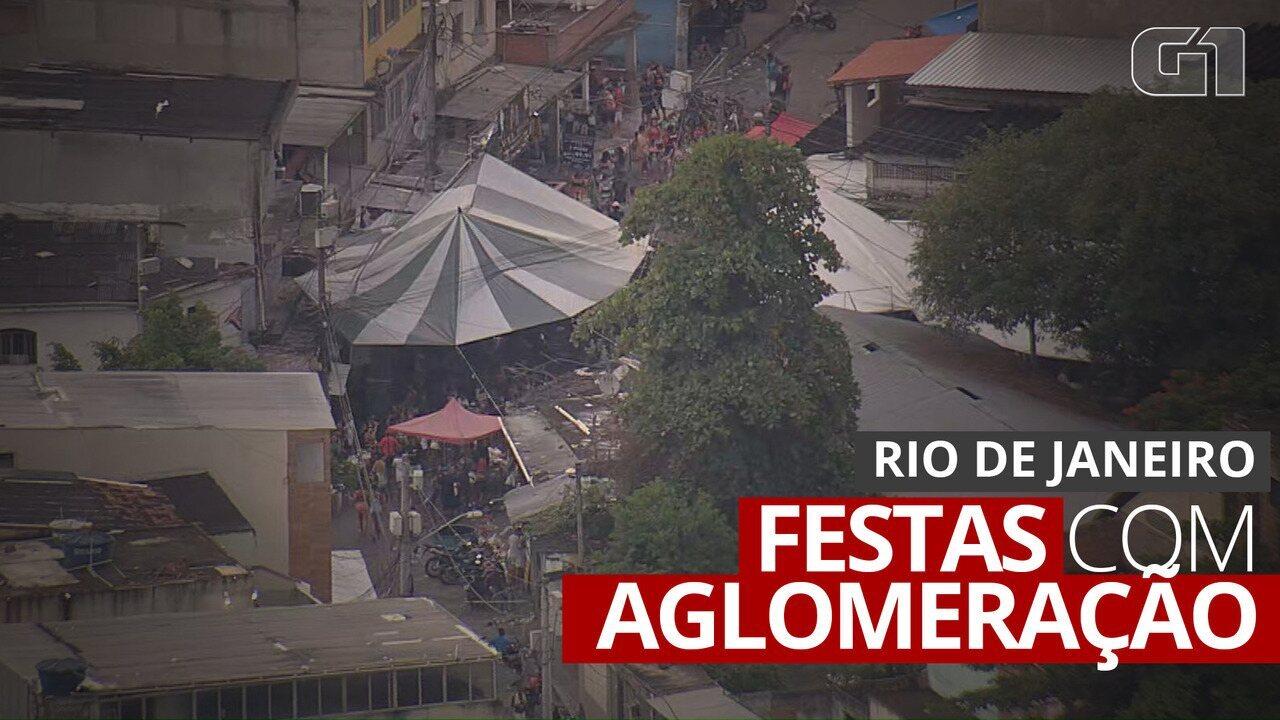 VÍDEO: Flagrantes mostram festas com aglomeração no Rio