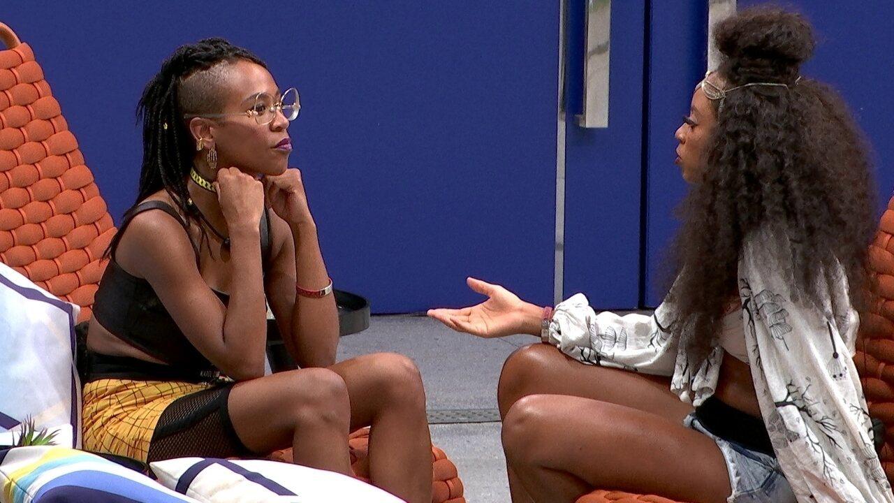 Karol Conká fala de sister com Lumena: 'Está fazendo campanha para que ele saia'