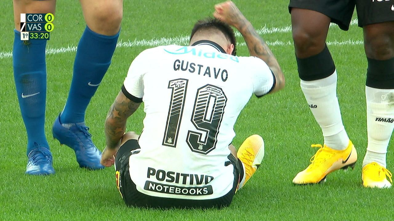 Gustavo Mosquito se lesiona e dá lugar a Gabriel Pereira no jogo, aos 33 do 1º