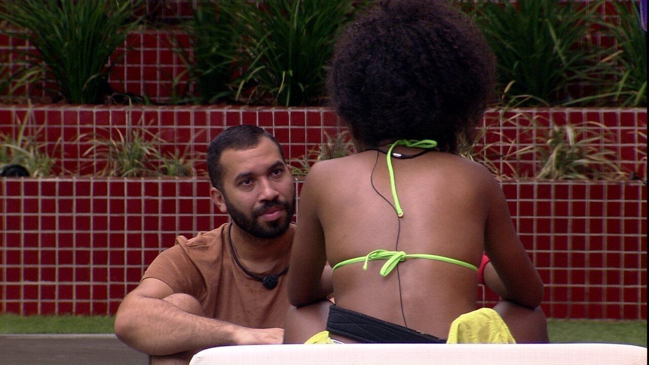 Lumena declara para Gilberto sobre sister do BBB21: ´O jogo dela é muito inteligente´