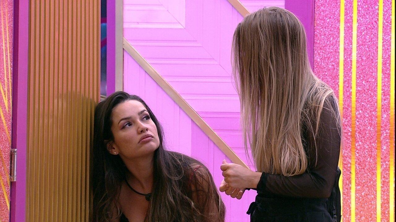 Juliette comenta com Carla Diaz sobre Jogo da Discórdia no BBB21