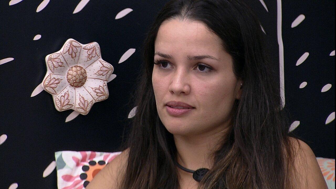 Juliette conversa com Gilberto e Sarah sobre jogo no BBB21