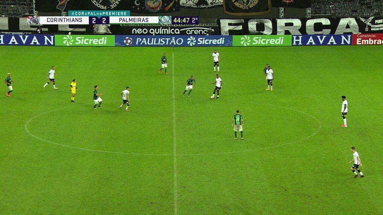Melhores momentos: Corinthians 2 x 2 Palmeiras, pela 2ª rodada do Paulistão