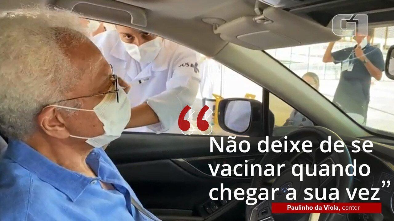 VÍDEO: Paulinho da Viola é vacinado no Rio