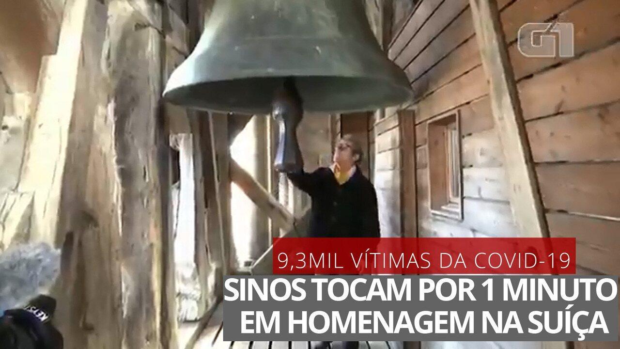 VÍDEO: Sinos de igrejas na Suíça tocam em homenagem às vítimas de Covid-19