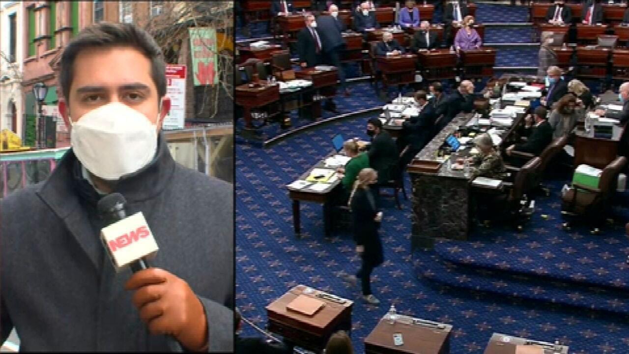 Democratas cedem e Senado aprova pacote de US$ 1,9 trilhão nos EUA