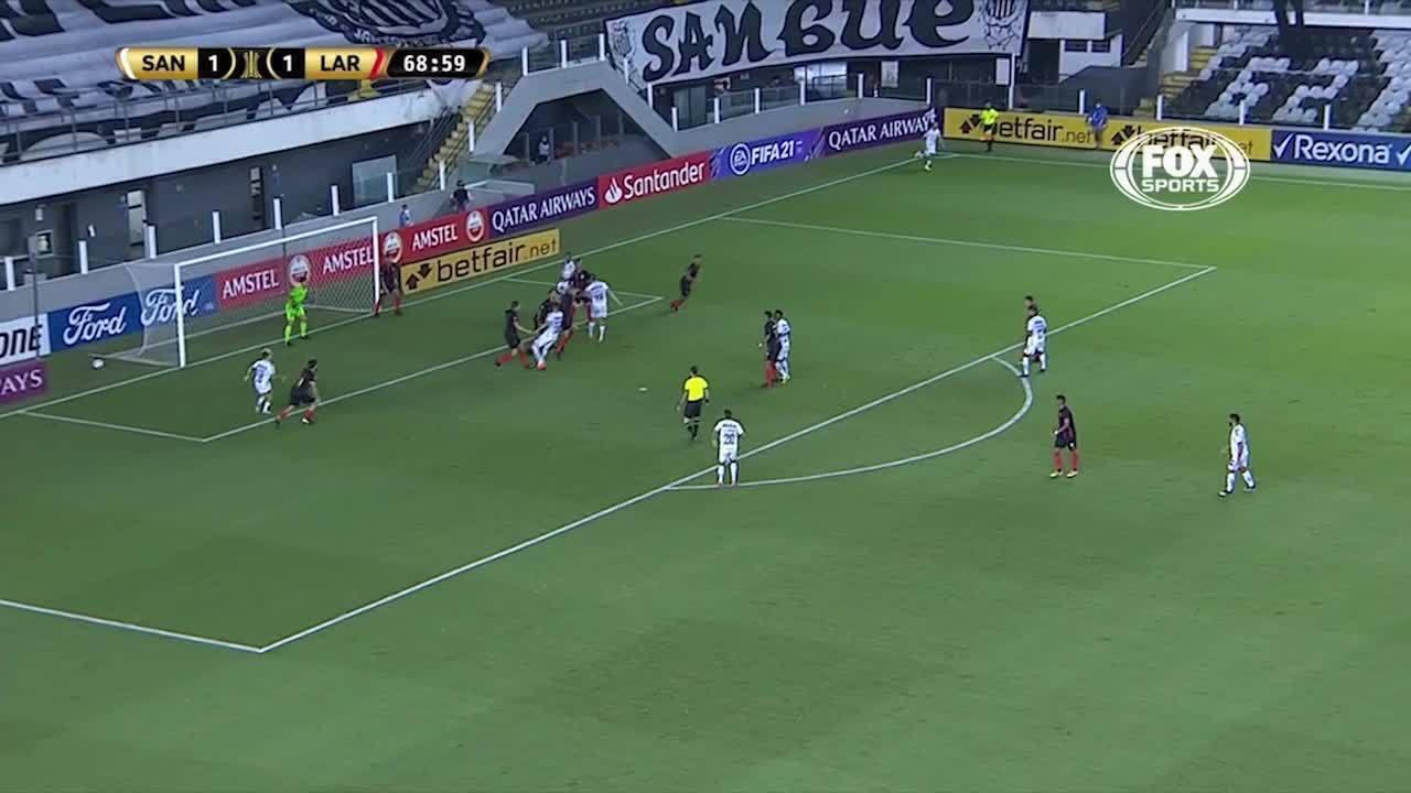 Os gols de Santos 2 x 1 Deportivo Lara, pela pré-Libertadores