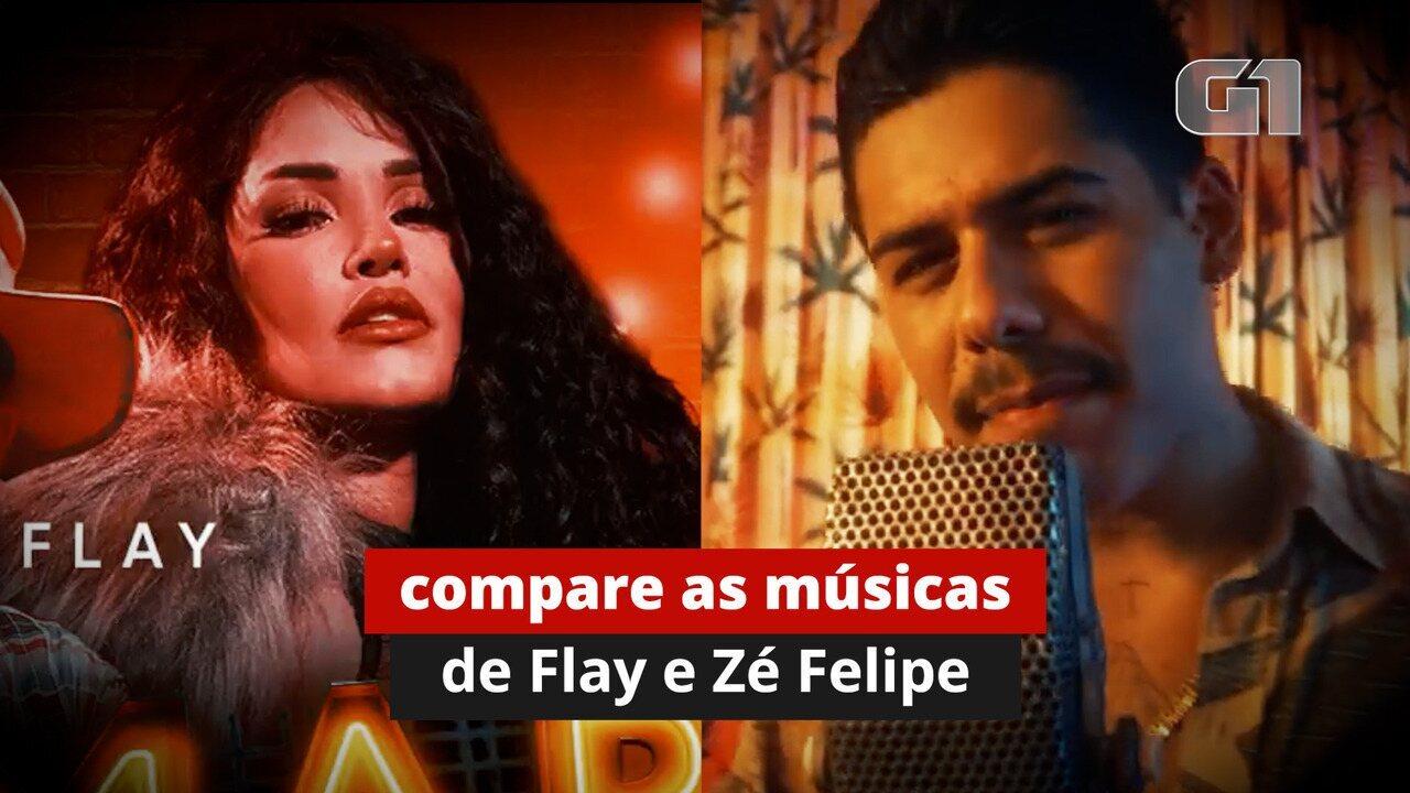 Compare 'Osmar' de Flay a 'Vigínia' de Zé Felipe