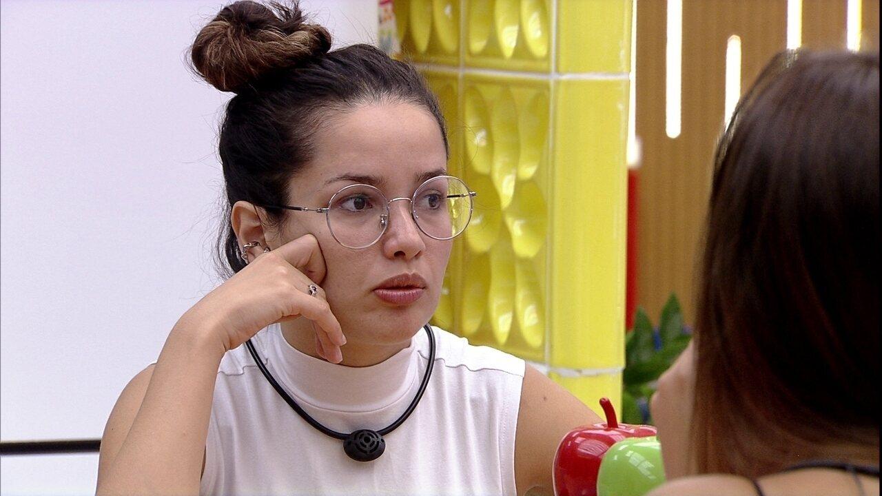 Juliette diz para Thaís no BBB21: 'Você subiu no meu ranking de preferência'
