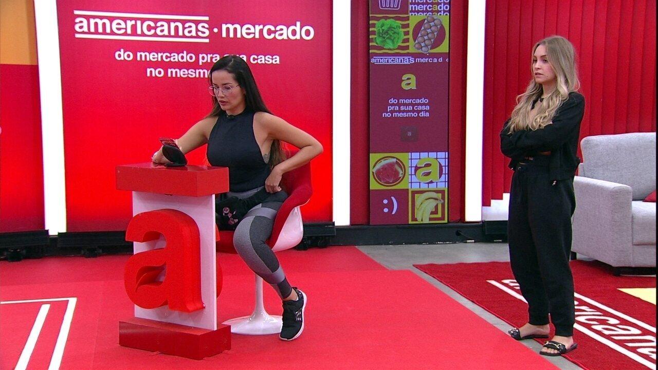 Carla Diaz e Juliette fazem compras para a Xepa no BBB21